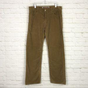 Levis 549 Low Loose Brown Corduroy Straight Pants